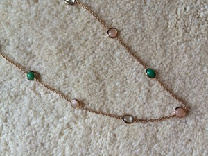 Ippolita IPPOLITA ROSE GOLD NECKLACE with Turquoise, Quartz and Pink Stones