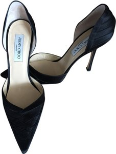 Jimmy Choo Black Satin Pumps