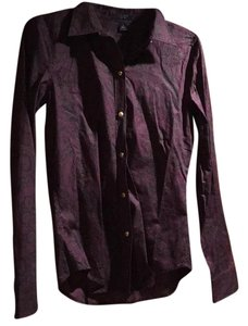 Chaps Button Down Shirt Purple multi