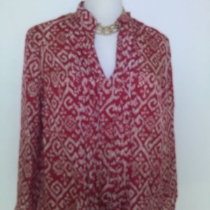 Michael Kors Top Red and Ivory