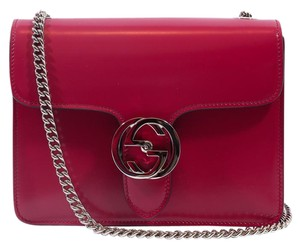 Gucci 387609 Leather Cross Body Bag
