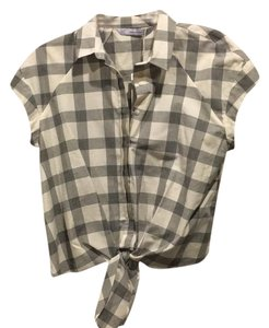 Zara Button Down Shirt White/gray