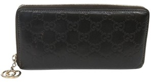 Gucci Gucci Signature GG Monogram Guccissima Leather Java Brown Long Wallet