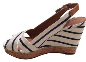 Kelly & Katie Striped Sandals Wedges