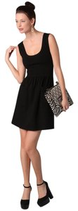 Diane von Furstenberg short dress Black Scoop Neck Pockets on Tradesy