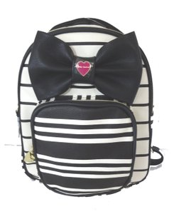 Betsey Johnson Medium Convertible Straps Detachable Black/bone Backpack