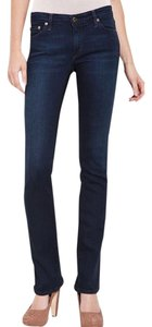 AG Adriano Goldschmied Stretchy Petite Boot Cut Jeans-Dark Rinse