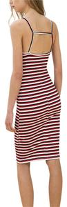 Zara short dress Red Stripe Bershka Slip on Tradesy