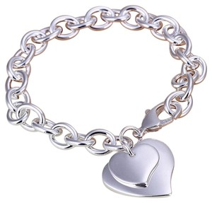 Heart to Heart New Heart Toggle Bracelet Exquiste Double Heart Bracelet