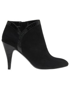 Lane Bryant Ankle Crocodile Suede Black Croc Boots