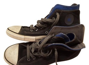 Converse All Stars Gray/Black with Blue Inside it Athletic