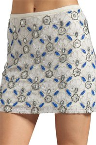 Yumi Kim Sequin Mini Mini Skirt White, Blue, Silver
