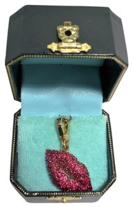 Juicy Couture JUICY COUTURE Red Pave Lips Juicy Kiss Charm 2006 Retired