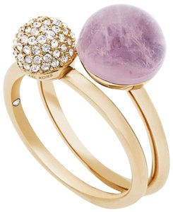 Michael Kors Michael Kors 2-Pc. Crystal Fireball & Purple Stone Stack: MSRP $125