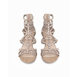 ASOS Cut-out Studded Wedge Sandal Nude Sandals
