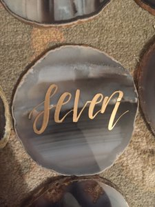 Natural Agate Table Numbers #1-30 - Enough For A Huge Wedding!