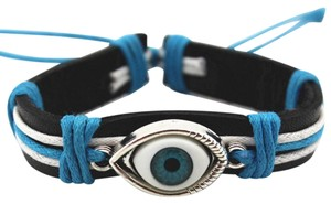 leather blue eye bracelet