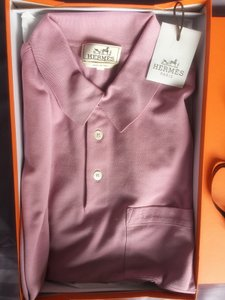 Herms Polo Mens Shirts T Shirt Pink