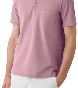 Hermès Polo Mens T Shirt Pink
