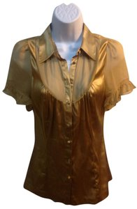 Arden B. Button Down Shirt gold