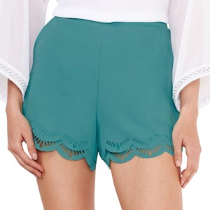 LC Lauren Conrad Scalloped Dress Shorts Turquoise