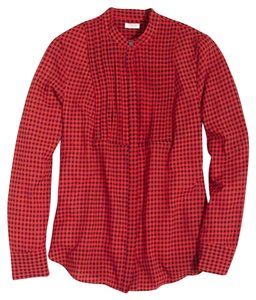 J.Crew Button Down Shirt Red, black