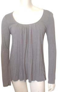 Gap Pleated Scoop Neck Kni Size Small T Shirt Gray