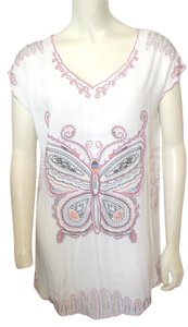 WD.NY Embroidery Die Cut Lounge Travel Tunic