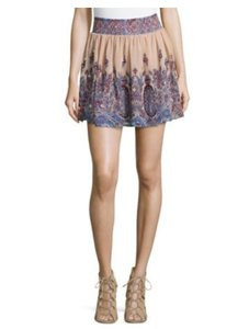Clarte Polyester Dryclean Only Smock Mini Skirt Blush