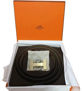 Hermès Hermes Constance 32mm reversible Belt Black/Etoupe size 95 and Buckle
