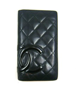 Chanel Quilted Cambon Leather Long Clutch Bifold Wallet France