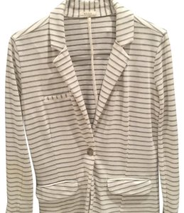Joie White and grey striped Jacket