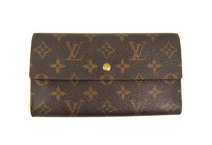 Louis Vuitton Monogram Canvas Leather International Long Clutch Wallet w/ Tags