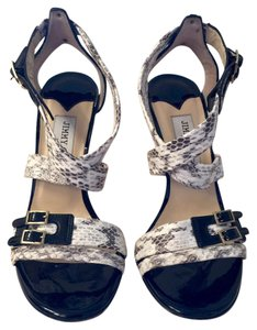 Jimmy Choo black and snakeskin white Formal