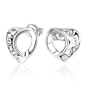Other Sterling Silver Heart Stud Earrings J2947