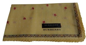 Burberry New Yellow Floral Cotton Handkerchief Made in Japan
