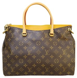 Louis Vuitton Lv Monogram Tote Shoulder Satchel in yellow