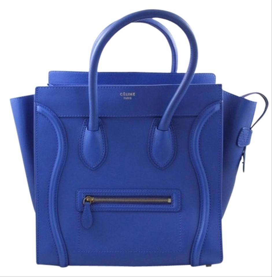 celine blue handbag