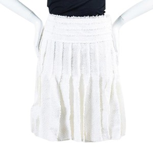 Chanel Mini Skirt White