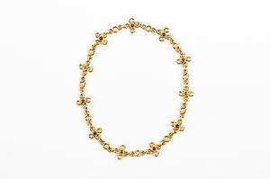 Chanel Chanel 18k Yellow Gold Multicolor Cabochon Gemstone Short Chain Necklace