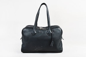 Hermès Hermes Clemence Leather Tote in Black