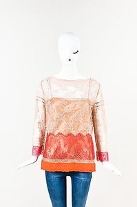 Alberta Ferretti Pink Top Pink, Orange