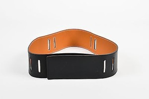 Hermès Hermes Reversible Black Natural Chamonix Leather Contrast Stitch Belt Strap Sz85