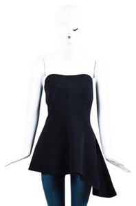 Derek Lam Women Tank Blouse Bustier Top Black