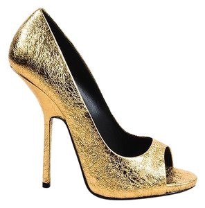 Giuseppe Zanotti Women Heels Pumps Open Toe GOLD Formal