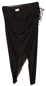 Cache Beaded Straight Pants Black