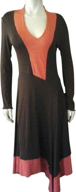 Preload https://item3.tradesy.com/images/carilyn-vaile-dress-brown-and-salmon-1966592-0-0.jpg?width=400&height=650
