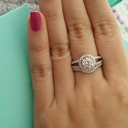 6 Nano Stimulated Diamond 1ct Vvs1 Certified Pt950 Stamped Halo Nscd Sona New Travel Mom Gift Bride Engagement Rings