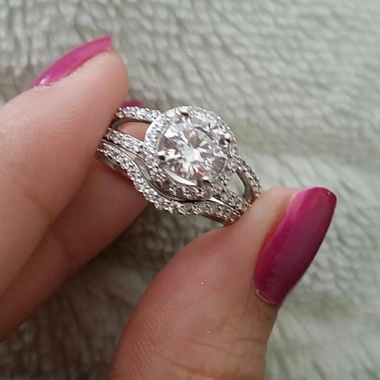 6 Nano Stimulated Diamond 1ct Vvs1 Certified Pt950 Stamped Halo Nscd Sona New Travel Mom Engagement Ring