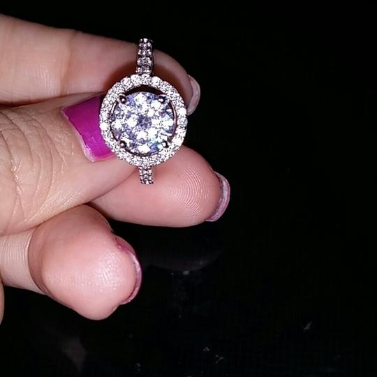 Other sizes 5 6 7 8 9 halo diamond cz sterling silver .925 engagement ring 2ct
